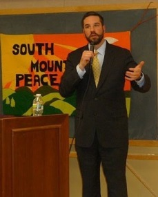 Speaking in NJ. Winter 2011.